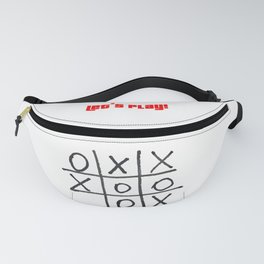 Tic tac toe, noughts and crosses game Fanny Pack
