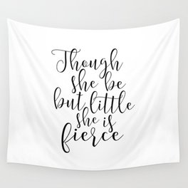 Printable Art,Shakespeare Quote,Nursery Decor,Girly,Nursery Girls,Gift For Her,Quote Prints Wall Tapestry