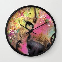 Little Caracal Cat Face Wall Clock