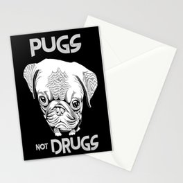 Pugs not Drugs Stationery Cards