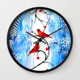 Winter With You Wall Clock