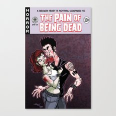 The Pain of Being Dead Canvas Print