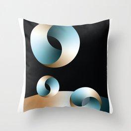 Blue Society Throw Pillow