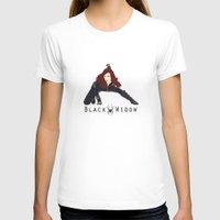 black widow T-shirts featuring Black Widow by trenchcoatandimpala