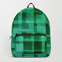 green squares pattern Backpack
