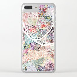 Pittsburgh map - Landscape Clear iPhone Case