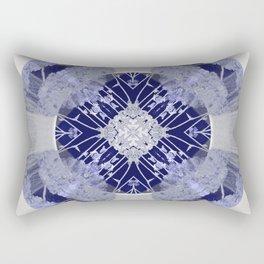 Microchip Mandala in Purple Rectangular Pillow