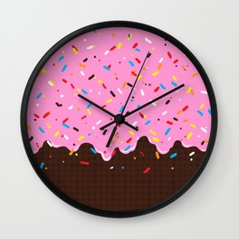 Sweet Pink Chocolate Treat Wall Clock