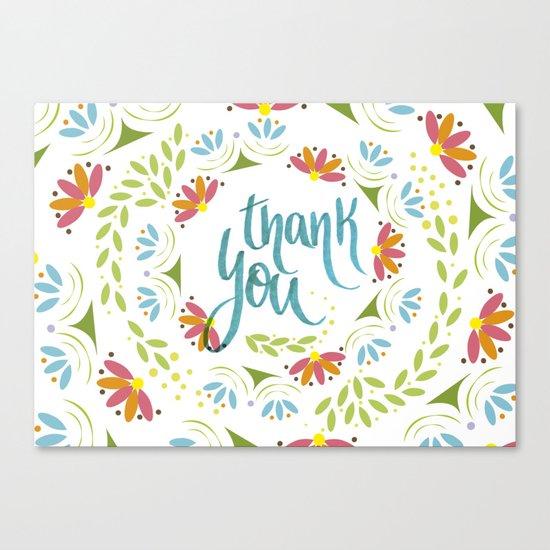 Thank you! Canvas Print