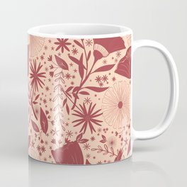 Wildflowers Repeat Pattern Purple Magenta Blush Pink Cottagecore Simple Life Coffee Mug