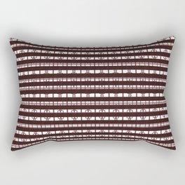 Tiled Aztec Symbols Inspired Stripe Pattern Design Rectangular Pillow