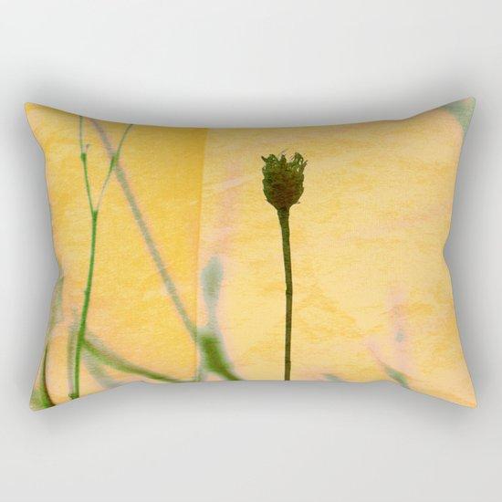Polaroid photo yellow flower Rectangular Pillow