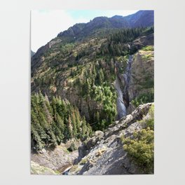 The Uncompahgre Gorge - From the Base of Bear Creek Falls Poster