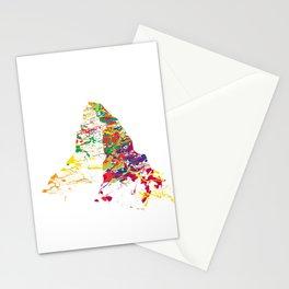 Matterhorn mountainsplash color Stationery Cards