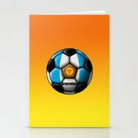 argentina Stationery Cards featuring Argentina Ball by kuuma