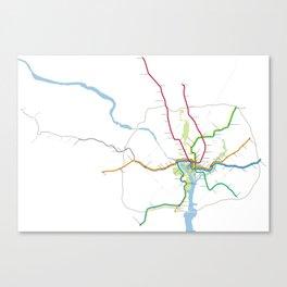 Washington Metro To Scale Canvas Print