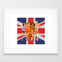 spice Framed Art Prints featuring Spice Girls by Greg21