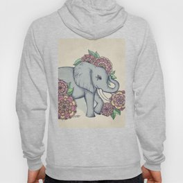 Little Elephant in soft vintage pastels Hoody