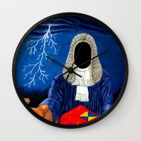 doom Wall Clocks featuring Doom by Lupo Solitario