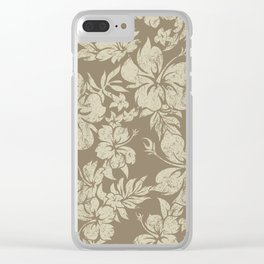 Hibiscus Pareau Hawaiian Floral Aloha Shirt Print Clear iPhone Case