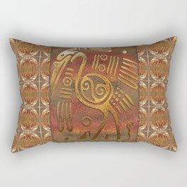 Mexicano Chrome Tribal Art Rectangular Pillow