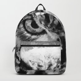 owl look digital painting orcbw Backpack