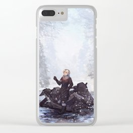 Snowflake Catching Clear iPhone Case