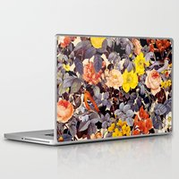 floral pattern Laptop & iPad Skins featuring Floral Pattern by Burcu Korkmazyurek