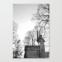 In the arms of the Angel Canvas Print