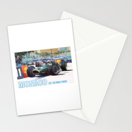 1968 MONACO Grand Prix Racing Poster Stationery Cards