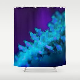 Glowing coral (supermacro) Shower Curtain