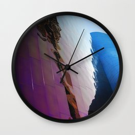 distorted Space Needle Wall Clock