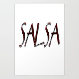 Salsa y Nacho Art Print
