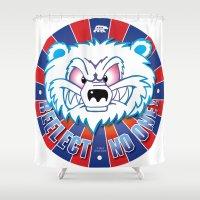 politics Shower Curtains featuring Polar Bear Politics by Clore Concepts Chuck's Stuff