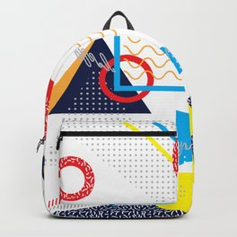 Memphis Pattern Backpack