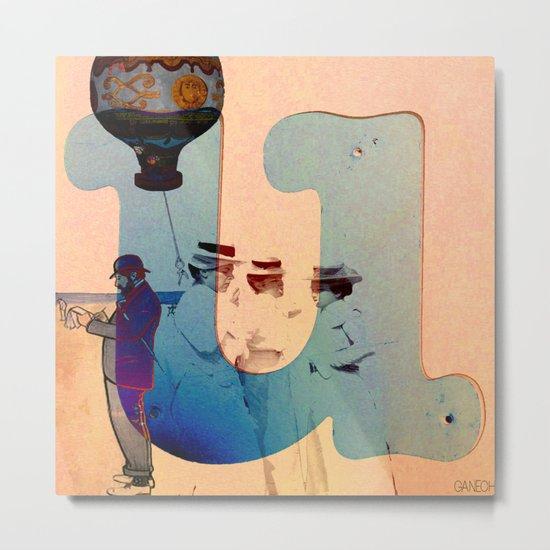 """Collage """" les demoiselles d'Avignon """" Metal Print"""