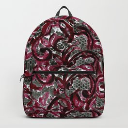 Vintage Lace Watercolor Halloween Backpack
