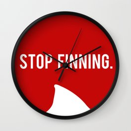 Stop fin-ing Wall Clock