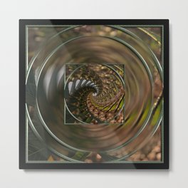 Flower to infinity mandala Metal Print