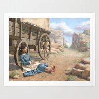 Pioneer Girl Art Print