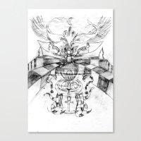 motorbike Canvas Prints featuring Motorbike. by sonigque