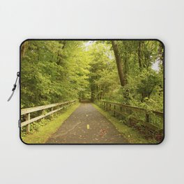 Hiking Trail Green Laptop Sleeve
