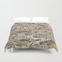 Skyline Roofs of Fes Marocco Duvet Cover