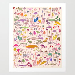 SHROOMS! Art Print