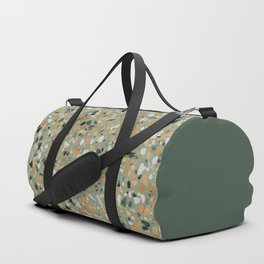 Terrazzo Texture Military Green #4 Duffle Bag