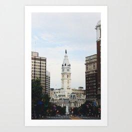 Philadelphia City Hall from the Parkway Art Print