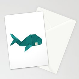 Origami Whale Stationery Cards