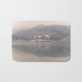 Bled Island On A Wintry Day Bath Mat