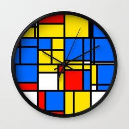 Mondrian Style Wall Clock