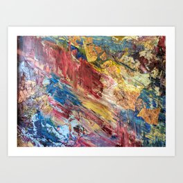 Abstract Oil and Metal Art Print